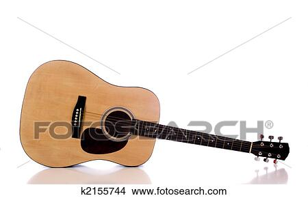 Stock Photo Of Acoustic Guitar On White K2155744 Search Stock