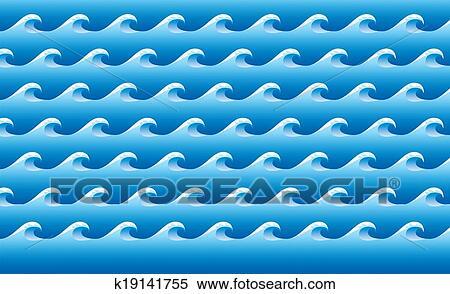 Mare Stilizzato Modello Archivio Illustrazioni K19141755