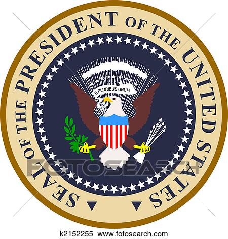 stock illustration of presidential seal in color k2152255 search rh fotosearch com presidential seal clipart free presidential seal clipart