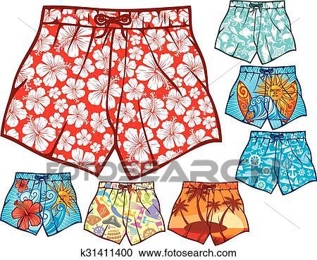 swim shorts clipart