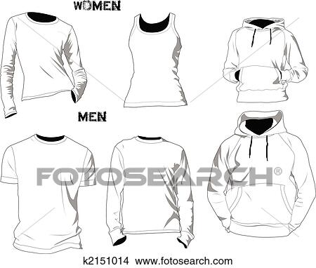 Clipart Of T Shirt Templates K2151014 Search Clip Art