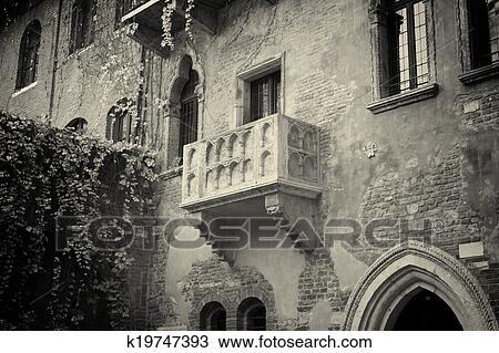 Zeichnung Dass Beruhmt Balkon Von Romeo Juliet K19747393
