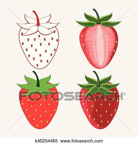 Jogo De Moranguinho Fruta Desenho Clipart K40254465 Fotosearch