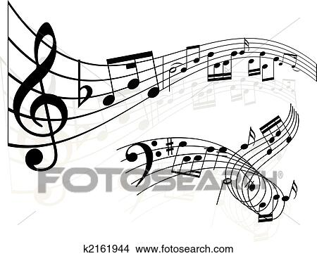 Clipart Of Music Notes Background K2161944 Search Clip Art