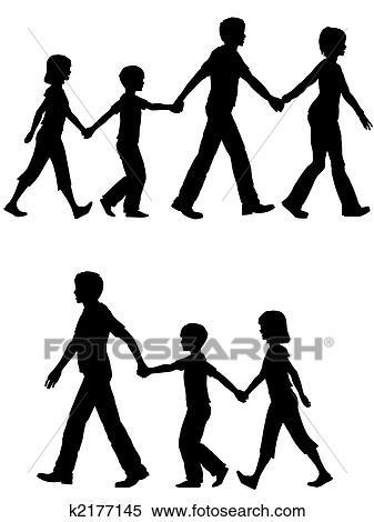 偶然 家族 お母さん お父さん リード 子供 そして 犬 上に 歩き