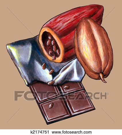 Clipart chocolat tablette k2174751 recherchez des clip arts des illustrations des dessins - Dessin tablette chocolat ...