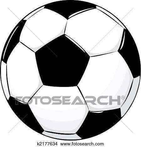 Fussball Ball Clipart K2177634 Fotosearch