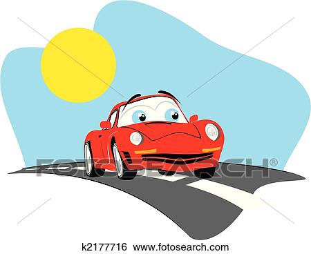 Cartoon Car Individual Objects Very Easy To Edit