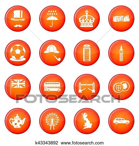 clip art of great britain icons set k43343892 search clipart