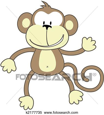 Clipart of greeting monkey k2177735 search clip art illustration clipart greeting monkey fotosearch search clip art illustration murals drawings and m4hsunfo