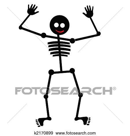 Skelet Voor Halloween.Halloween Dancing Skelet Stock Illustraties