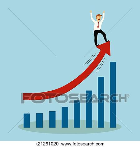 Business Man Stand On Top Of Graph Arrow Successful Concept Illu Clipart K21251020 Fotosearch Use stand arrow and thousands of other assets to build an immersive game or experience. stock photography