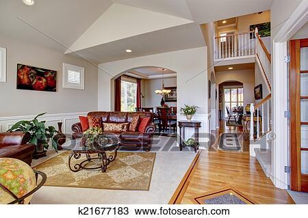 Archivio Fotografico - lusso, casa, interior., soggiorno, con ...