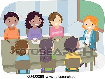 Clipart Of Pta Meeting K22422095 Search Clip Art Illustration
