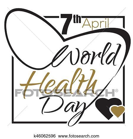 Clip Art Of World Health Day 7 April Typographic Design K46062596