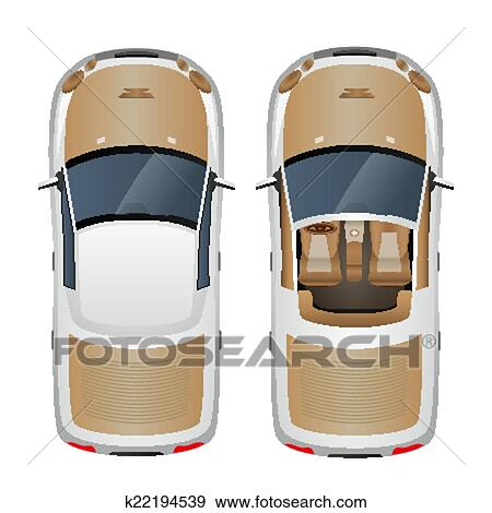 Auto, draufsicht Clip Art | k22194539 | Fotosearch