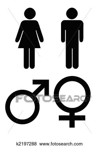Stock Illustration Of Male And Female Gender Symbols K2197288