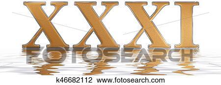 Colección De Foto Número Romano Xxxi Unus Et Triginta 31