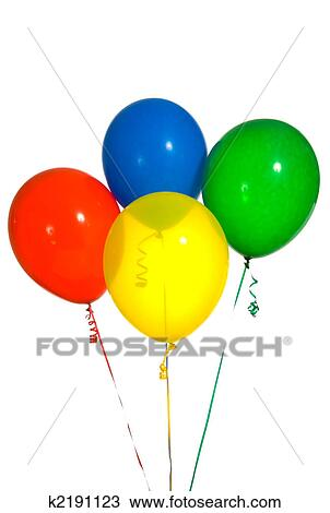stock photo of primary colored balloons k2191123 search stock