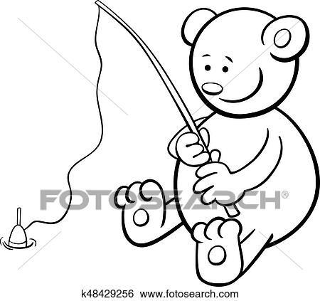 Clip Art - angler, bär, ausmalbilder k48429256 - Suche Clipart ...