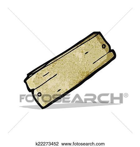 Cartoon Plank Of Wood