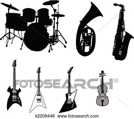 Clip Art Komplet Od Muzyczne Instrumenty K2209446 Szukaj