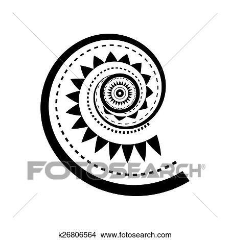 Clipart Maori Stile Spirale Tatuaggio K26806564 Cerca Clipart