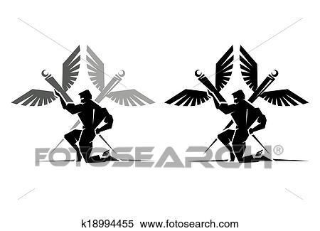 Clipart Of Greek God Hermes K18994455 Search Clip Art