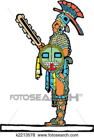 clip art of mayan warrior 4 k2213578 search clipart illustration rh fotosearch com warrior clipart black and white warrior clipart images