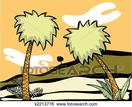 clip art of palm trees k2213776 search clipart illustration
