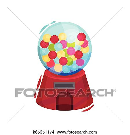 Gumball Machine Clip Art - Bubble Gum Machine Clip Art Png Transparent PNG  - 204x594 - Free Download on NicePNG