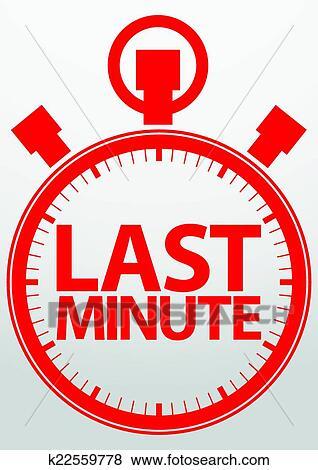 clip art of last minute stopwatch icon vector illustration