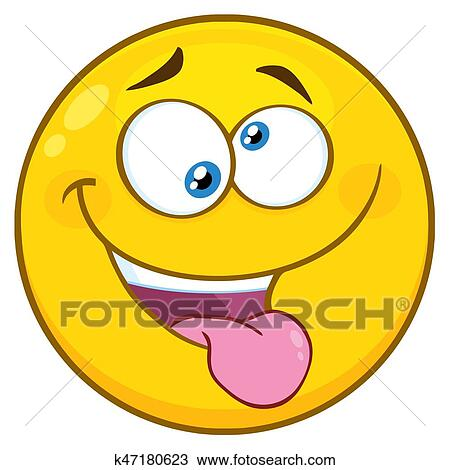 clipart of mad yellow cartoon smiley face character with crazy rh fotosearch com Yummy Smiley Face Clip Art crazy happy face clip art