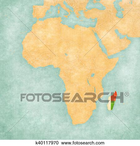 Map Of Africa Madagascar.Map Of Africa Madagascar Clipart