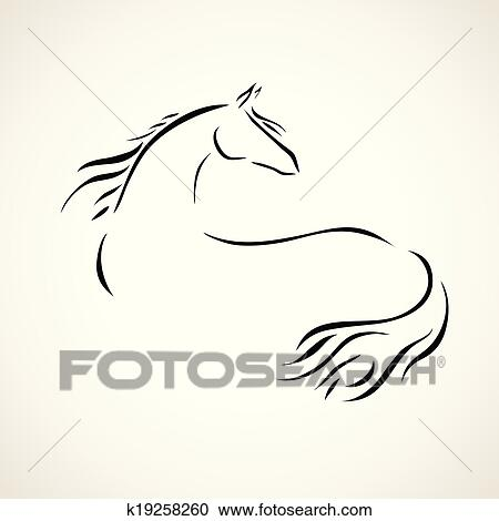 Vettore disegno cavallo clipart k19258260 fotosearch for Disegno cavallo stilizzato