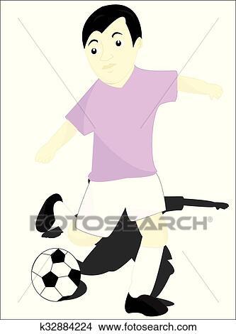 Dass Fussballspieler Clipart K32884224 Fotosearch