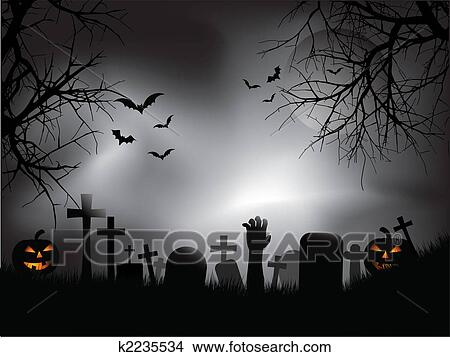 clipart spooky cemitério k2235534 busca de ilustrações clip