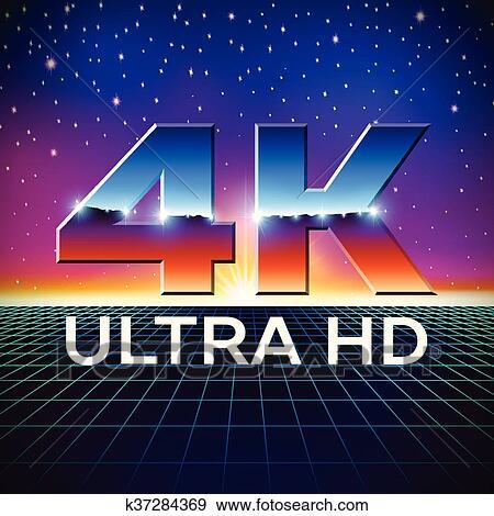 4k Ultra Hd تصميم شارة ب بهيج الكروم أدب Clip Art