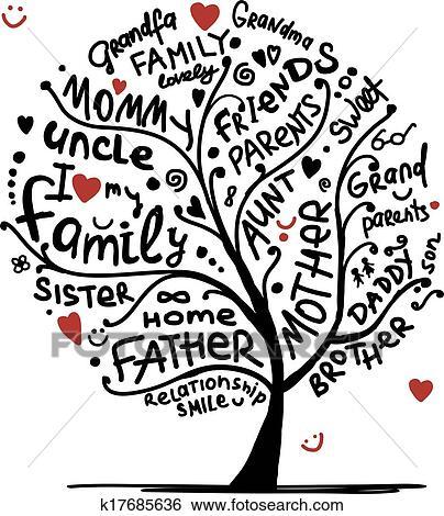 Clipart Arbre Genealogique Croquis Pour Ton Conception