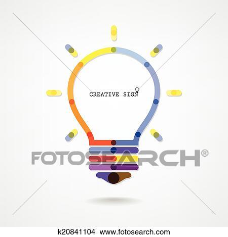 Clipart Of Creative Light Bulb Idea Concept Background K20841104