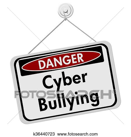 drawing of cyber bullying danger sign k36440723 search clipart rh fotosearch com cyber bullying pictures clip art Stop Cyberbullying