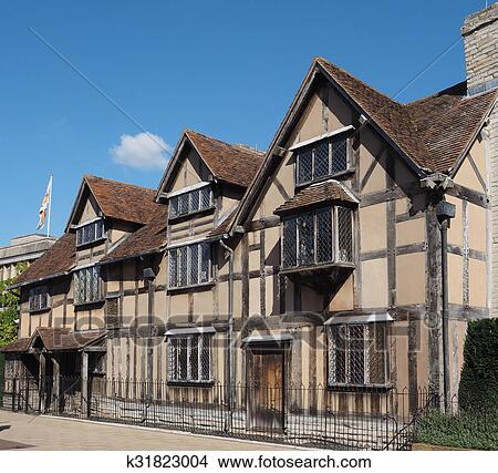Stock Photo Of Shakespeare Birthplace In Stratford Upon Avon