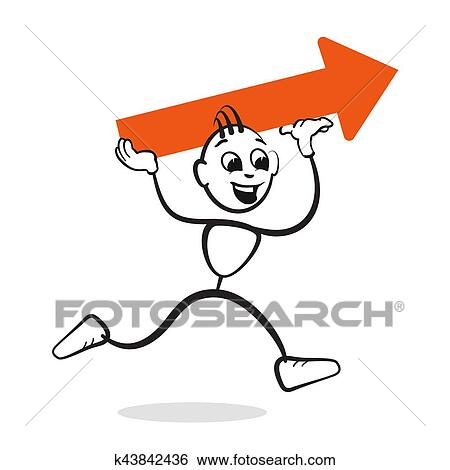 clip art of strichm nnchen serie emotionen motivation k43842436 rh fotosearch com motivation clipart animations motivational clip art images free