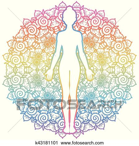 women silhouette yoga mountain pose tadasana clipart