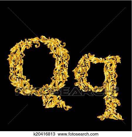 حرف Q مزخرف