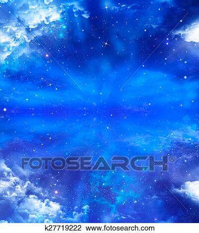 Clip Art Estratto Sfondo Blu Cielo Stellato K27719222 Cerca
