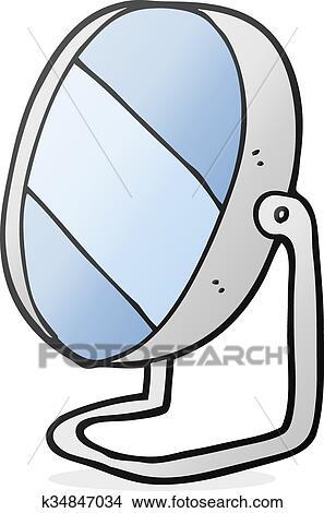 Clipart   Karikatur, Badezimmer  Spiegel. Fotosearch