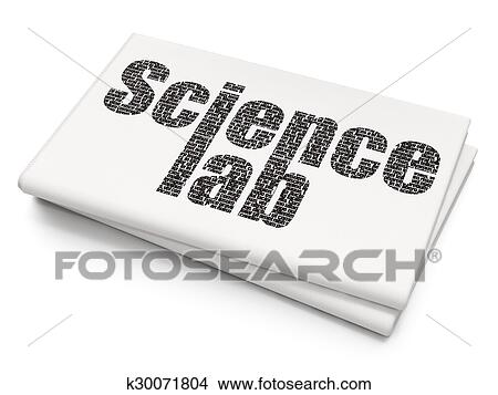 Drawings Of Science Concept Science Lab On Blank Newspaper