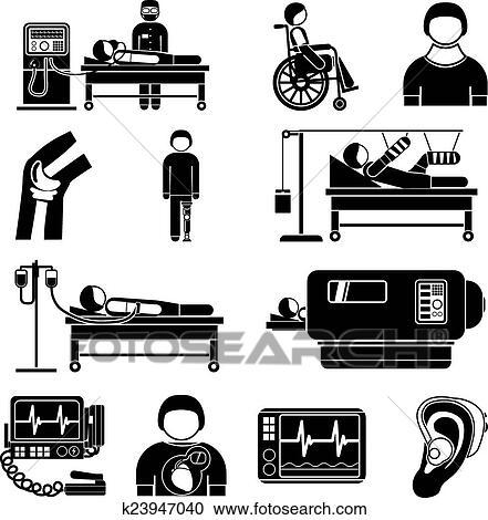 生命維持装置, 医療の装置, アイコン クリップアート(切り張り ...
