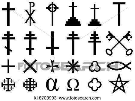 Clipart Of Christian Religious Symbols K18703993 Search Clip Art